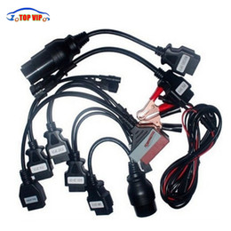 Wholesale Obdii Professional Diagnostic - High Professional Full Set 8 Car Cable TCS Car Cables OBD2 OBDII Connector Cables diagnostic tool for tcs cdp pro