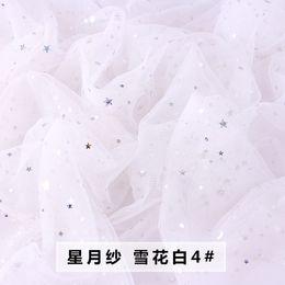 2019 tutu de rede branca 150 * 100 cm branco estrela brilhante glitter tecido tutu pano de palco tecido net patchwork vestido de noiva roupas diy tecido tutu de rede branca barato
