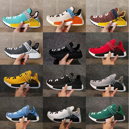 Wholesale Purple Trail - 2017 NMD Human Race Pharrell Williams Hu trail NERD Men Womens Running Shoes NMD noble ink core Black Red sports Shoes eur 36-46