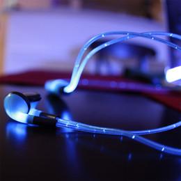 LED Dynamique Lumière Up Écouteurs Bleu Élégant Casque Stéréo Casque Écouteurs Pour téléphone iphone Samsung 6 6S S6 DHL ? partir de fabricateur