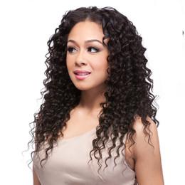 Wholesale Virgin Hair Deep Wave Clips - Peruvian Virgin Hair Full Head Natural Black Bohemian Deep Wave Clip in Virgin Human Hair Extension Deep Curly Human Hair Weaving