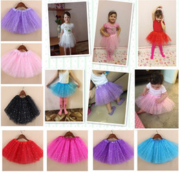 Venta caliente Nuevas Niñas Brillo Brillo Lentejuelas Estrellas Danza Ballet Tulle Tutu Falda Princesa Vestido Tutu Vestido faldas paillette Disfraces desde fabricantes