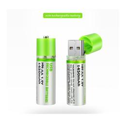 fora da grade solar Desconto Nova Chegada 2 Pcs AA Bateria Nimh AA 1.2 V 1450 MAH Bateria Recarregável NI-MH USB AA 1450 MAH