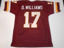 Jerseys de fútbol cosido online-Cheap Retro personalizado Cosido # 17 Doug Williams Borgoña MITCHELL NESS Jersey Throwbacks Hombres Fútbol Jerseys Rugby