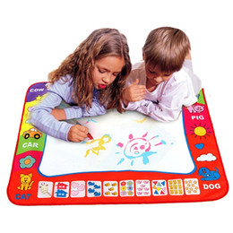 Wholesale Girls Doodles - Baby Kids Add Water With Magic Pen Doodle Painting Picture Water Drawing Play Mat In Drawing Toys Board Christmas Gift