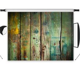 Poliéster Vinyl Grunge Moldy Old Placa De Madeira Recém-nascidos Backdrops Fundo Para Estúdio de Fotografia Cenário Foto Adereços Decoração de