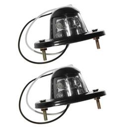 Wholesale pair license plate - HEHEMM 1 Pair 6 LED Lights Car Led License Plate Lamp For Car Truck Bus Boat 12V DC White Color