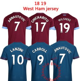 West Ham United home 2019 soccer jersey ZABALETA KOUYATE CARROLL LANZINI  PAYET NOBLE 2018-2019 away TOP football shirt J.MARIO 9ad825382