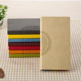 notebook coreano bonito grosso Desconto Bloco De Notas De Couro PU Estudante Diário Diário Livro Rainbow Edge Kid Papelaria Presente Multi Cor 7nx2 C R