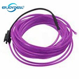 Wholesale El Cable - DC12V Auto Car 3M 5M Neon LED EL Wire Cable light Lamp Glow Flexible String Light Led Strip light Colorful Tube Decoration