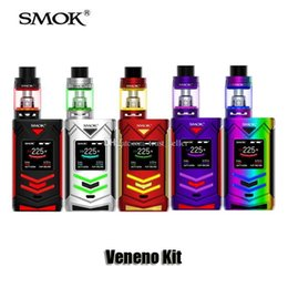 Wholesale Light Box Kits - 100% Original SMOK Veneno Kit VW TC 225W Box Mod 5ml TFV8 Big Baby Light Edition Tank
