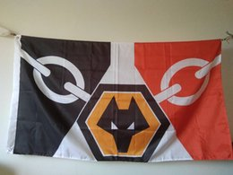 Canada Wolverhampton Wanderers FC Drapeau 90 x 150 cm Polyester Loups Angleterre Football Club Bannière Offre