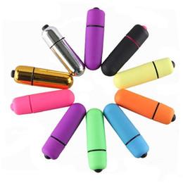 Wholesale Nueva ventas al por mayor unids lote Mini Bullet Vibradores Impermeables Balas Inalámbricas Vibrantes Huevos Y Balas Juguete Sexual