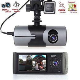 tft lcd auto Rabatt Dual Kamera Auto DVR R300 mit GPS und 3D G-Sensor 2,7
