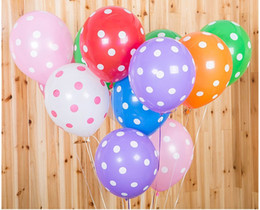 100pcs Lot 12inch 28g Balloons Polka Dots Printing Candy Color Kids Birthday Party Decoration Balloon Wedding Room Decorations Discount