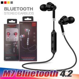 Evrensel M7 Bluetooth Kablosuz Stereo Spor Kulaklık Kulakiçi Kulaklık iPhone Samsung LG Cep Telefonu Için Kulak Kulaklık Kulaklık nereden