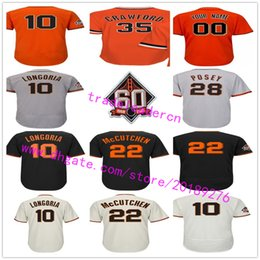 Wholesale Andrew Mccutchen Jersey - San Francisco 22 Andrew McCutchen 10 Evan Longoria 28 Buster Posey Madison Bumgarner Brandon Crawford Pence Jerseys w 60th Anniversary Patch