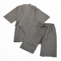 bb5c8734e8 Japanese cotton kimono pajama suits Summer short sleeve pyjamas set Sleepwear  Robe and shorts Traditional Home Lounge Sleepwear