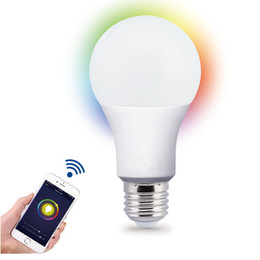 Wholesale Green Lighting Products - 2018 Best Seller New Product Energy Saving Compatible with Wifi Control Smart Led Light Bulb RGB+W A19 A60 8W