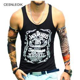 Wholesale tank top scoop neck - Cotton Big Size Loose Men Top Fitness Print Brand Mens T-Shirt Sleeveless Tank Hip Hop Tops Vest Shirts BT087