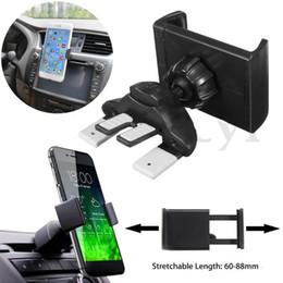 scatole per auto Sconti Supporto universale della culla del supporto del supporto dello sfiatatoio dell'automobile di CD dell'automobile per il telefono cellulare di GPS con la scatola al minuto Alta qualità
