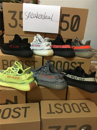 Wholesale Dark Blue Shoe Laces - 2017 Semi Frozen Yellow Boost 350 v2 Beluga 2.0 Grey Bold Orange SPLY 350 Boost Zebra Core Black Red Kanye Running Shoes