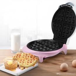 Macchina della torta della cialda online-Famiglia Gustino automatico Double-Sided Waffle Maker Machine Bakelite Rivestimento antiaderente Waffle Maker Cake Colazione Ciambelle Machine TB