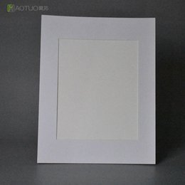Wholesale Free Photo Poster - HAOTUO Acid Free Bevel Cut White Photo Mounts fit 8x10 Photo or Poster Wedding Party Home Decoration Frame with Backing Board