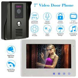 "Wholesale Wired Video Intercom Doorbell Systems - Wired 7"" Video Door Phone Intercom System 800TVL Doorbell Two-way Audio IR Camera Night Vision Unlock"