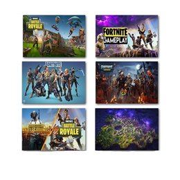 Wholesale modern abstract wall paintings - The Fortress Night Poster Fortnite Periphery Comic Game Bedroom Modern Exquisite Wall Painting Frameless High Quality 5 99hz3 WW