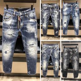 2018 nueva moda larga lavado fresco estilo rock impreso hombres jeans  famosa marca senior diseño calidad superior rasgado jeans hombre d1e57ad6ceaa