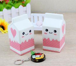 Картонные коробки онлайн-Новая коробка молока Squishy Box Kawaii Большие Squishies Игрушка Запах Имитация Симпатичные Медленно растущая еда DHL Бесплатная доставка