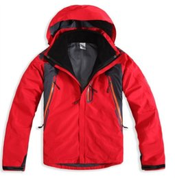 Wholesale Men Mountain Jacket - men's spring winter 3in1 removable two-piece waterproof outdoor rock climbing mountain hiking outing jacket leisure coat
