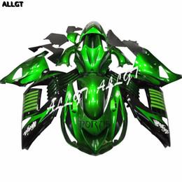 Argentina Glossy Green Motorcycle Fairing Kit para Kawasaki Ninja ZX14 ZX14R ZZR1400 2006 2007 2008 2009 2010 2011 Parte de la carrocería Suministro