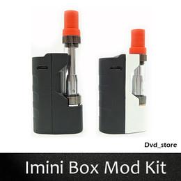 Wholesale Electronic Cartridge - Imini Box Mod Kit Liberty V1 Atomizer Electronic Cigarette Starter Kit 0.5ml 1.0ml Cartridges 500mAh Vape Preheat VV Mod