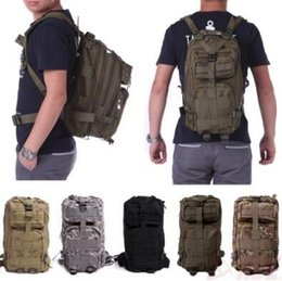 Wholesale Tactical Molle Fabric - 12 Colors 30L Hiking Camping Bag Military Tactical Trekking Rucksack Backpack Camouflage Molle Rucksacks Attack Backpacks CCA9054 60pcs