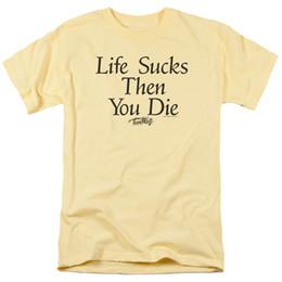 Фильм в натуральную величину онлайн-Подросток Волк фильм Жизнь сосет, то вы умрете футболка всех размеров смешно бесплатная доставка унисекс случайный тройник подарок