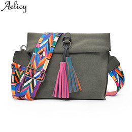 a8d9630549c3 Aelicy Women Scrub Leather Design Crossbody Bag Girls With Tassel Colorful  Strap Shoulder Messenger Bag for Girls Small Handbag