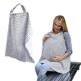 Wholesale Nursing Cloths - Infant Baby Cotton Nursing Cover Mum Breast Feeding Blanket Nursing Multifunctional Muslin Udder Nursing Cloth Baby Car Seat Cover BBA167