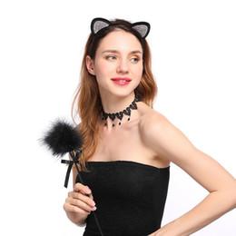 bandeau oreilles de chat rouge Promotion Mode Métal Chat Oreille Bandeau Femmes Strass Bandeaux Cheveux Accessoires Cheveux Femmes Rouge Noir Couleur Bandeaux