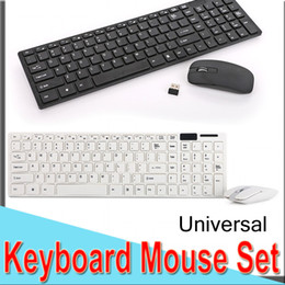 keyboard ios android Promo Codes - 2.4G USB Wireless Keyboard Mouse Set Combos 1600DPI Optical Mouse Non-Noise Ultra-Slim Mini Universal Keyboard for IOS Android Laptop XHK06
