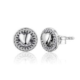 52fdb93cbf88 Compatible con los pendientes Pandora 925 Sterling Silver Forever Hearts  Stud Pendientes para las mujeres joyería de estilo europeo encanto de la  moda ...