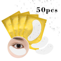 Canada Peut mélanger 50 pcs / paquet Eye Pads pour extension de cils greffés yeux correctifs Hydrogels pad papier isolant cils cils Make Up Tools supplier extension eye patch Offre