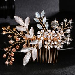 Moda Austria cristal piedra peinados para el cabello hechos a mano de la boda horquillas de las mujeres del pelo Clips joyería colorida nupcial accesorios JCH039 desde fabricantes