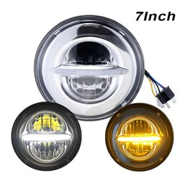 """Wholesale Led Projector Headlights Motorcycle - For Harley Davidson FLD 7"""" Led Motorcycle Headlight New 7Inch Motor projector with DRL Hi Lo beam Headlamp For Yamaha Road Star"""