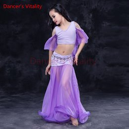 578c6723ab86 Discount egyptians costumes - Dancer's Vitality Kids Belly Dance Costume  Half Sleeve Perspective Net Yarn Skirt