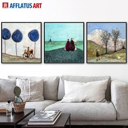 Wholesale Mountain Posters - AFFLATUS Mountain Landscape Nordic Poster Canvas Painting Wall Art Posters And Prints Wall Pictures For Living Room Home Decor