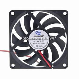 Wholesale axial flow fans - 1pcs Gdstime 12Volt 2P 80mm 8cm 80x10mm 8010 Mini DC Axial Flow Cooling Cooler Fan