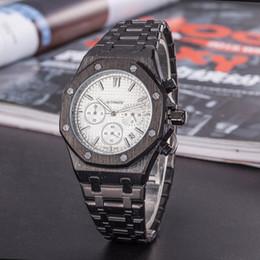 2019 marcas deportivas usa 2018 Topselling Man reloj de cuarzo reloj de pulsera de lujo de acero inoxidable Reloj de cuarzo de marca famosa reloj masculino Deportes de moda Nuevo reloj 50 piezas marcas deportivas usa baratos