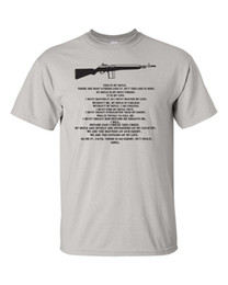 metal rifle gun Coupons - Wholesale discount Short Sleeve Basic Tops This Is My Rifle Prayer Full Metal Jacket Gun Control M14 Men's Tee Shirt 896